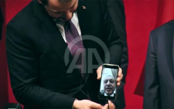Cumhurbaşkanı Erdoğan, face time üzerinden öğrencilere hitap etti