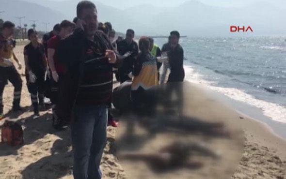 Kuşadası'nda kaçakları taşıyan bot battı