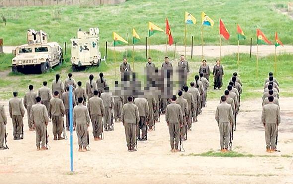 PKK'dan Kerkük'te ABD zırhlılarıyla gösteri töreni!