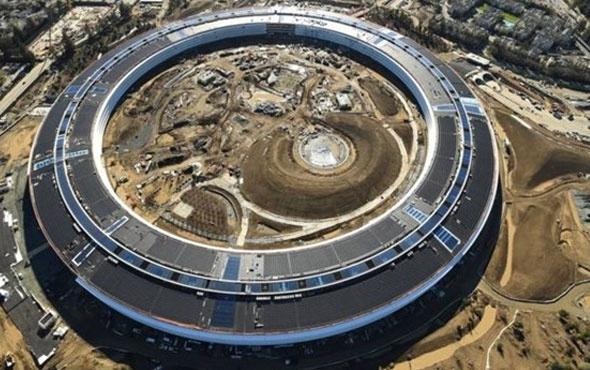 Apple yeni binası son durum