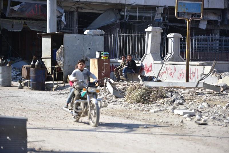 DEAŞ sonrası El Bab sokakları böyle görüntülendi
