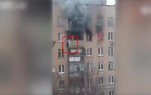 Yangından kaçamayan kadın 9. kattan aşağı düştü