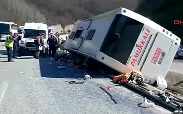 Bursa'da yolcu otobüsü devrildi, 6 kişi öldü