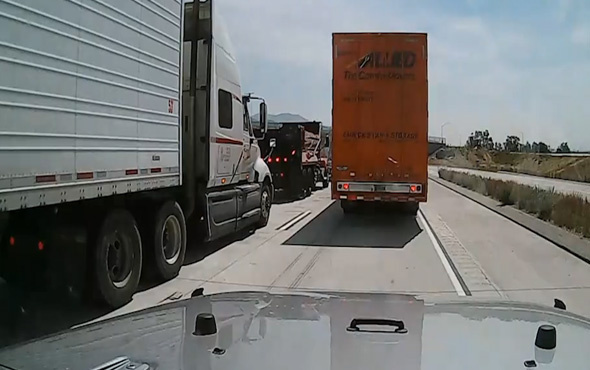 Trafikten böyle kaçtı