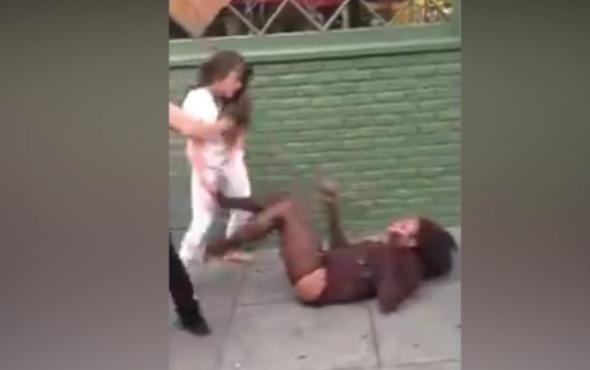 Hayat kadınlarının kavgası dehşete düşürdü