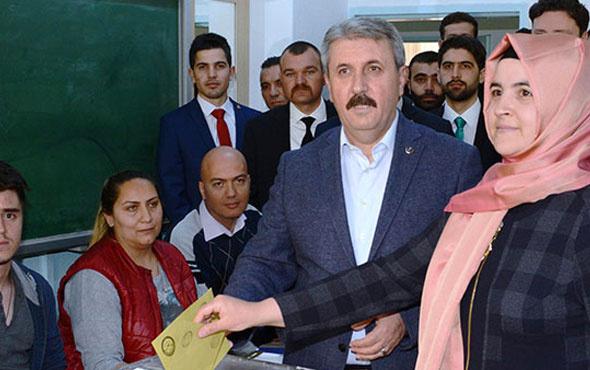 BBP lideri Mustafa Destici, oyunu kullandı