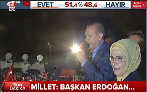 Cumhurbaşkanı Erdoğan'ın Huber Köşkü'nde halka seslendi.