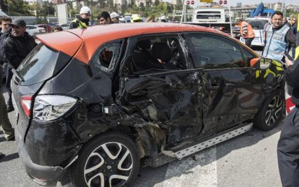 TEM'de zincirleme kaza trafik felç