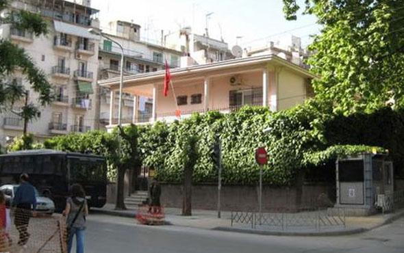 Selanik'te Türk Konsolosluğuna molotoflu saldırı