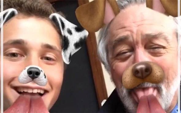 Dünyaca ünlü yıldız Snapchat'te köpek oldu!