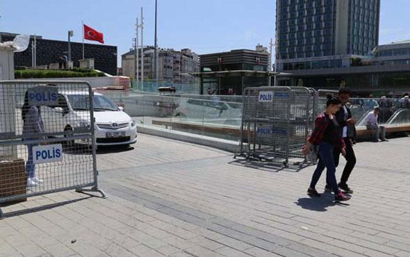 Taksim Meydanı demir bariyerlerle kapatıldı