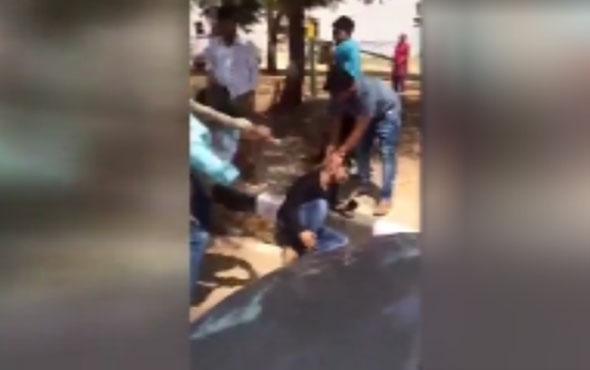 Kadına şiddetin cezasını halk kesti