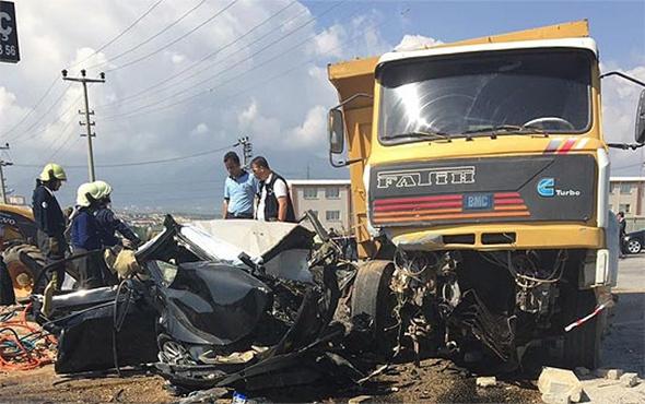 Başsavcı Mustafa Alper'in öldüğü kaza anı güvenlik kamerasında