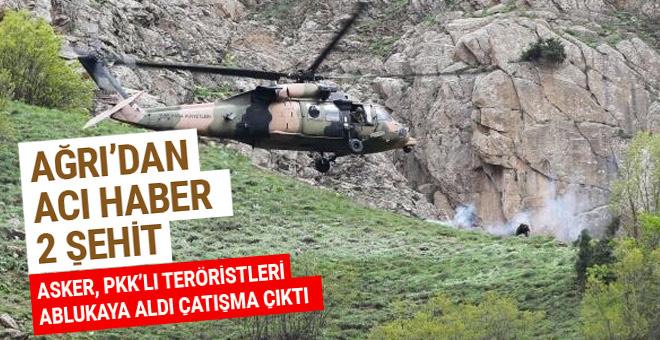 Tendürek Dağı'nda çatışma: 2 şehit 11 yaralı