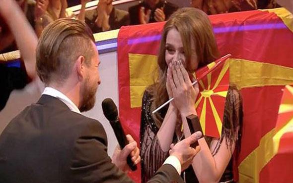 Eurovision'da Makedon şarkıcıya evlilik teklifi geldi!