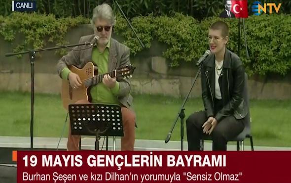 Burhan Şeşen ve kızı Dilhan Şeşen canlı yayında düet yaptı