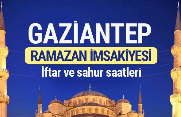 Gaziantep Ramazan imsakiyesi 2017