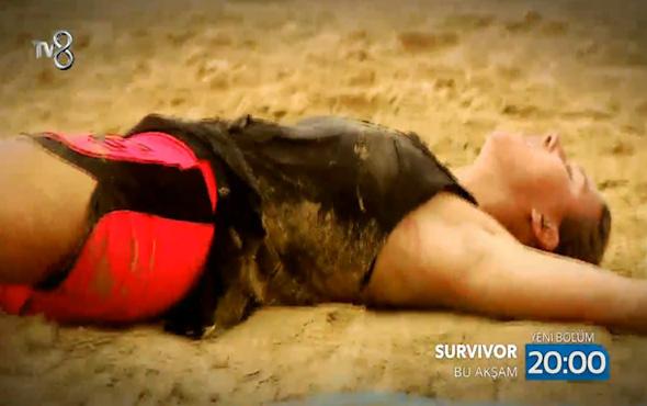 Survivor yarışmacısı Elif parkurun ortasında bayıldı