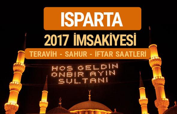 Isparta sahur imsak vakti teravih saatleri | İmsakiye 2017
