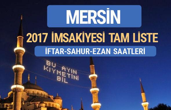 2017 İmsakiye Mersin iftar saatleri sahur ezan vakti