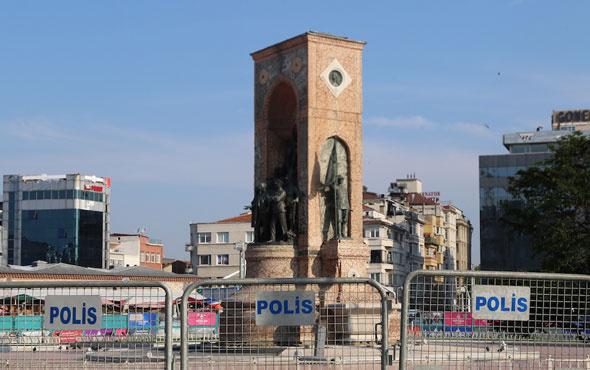 Taksim'de giriş ve çıkışlar kapatıldı