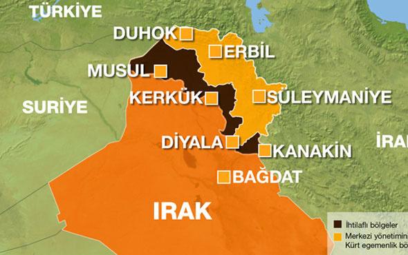 Kürtler bağımsızlık ilan ediyor peki haritada nereler var?