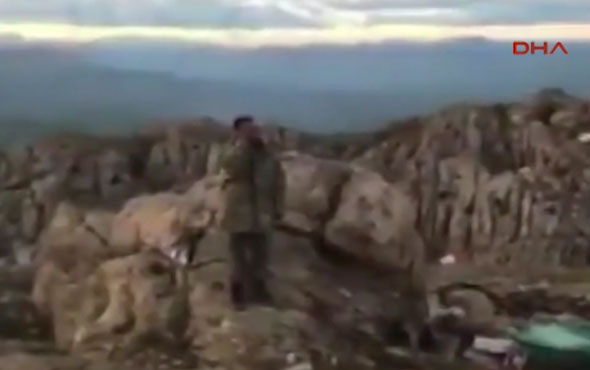 Mehmetçik'ten Kato Dağı'nda akşam  ezanı