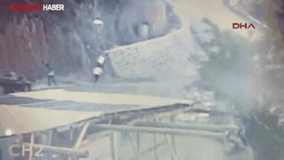 Üzerine kaya parçası düşen öğrencinin feci ölümü kamerada