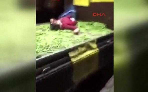 Üsküdar'da seyyar satıcı kadını döven zabıtalar olay oldu