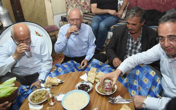 Kılıçdaroğlu köy evinde iftar yaptı