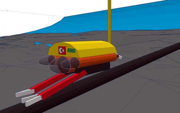 Deniz altı elektrik arızalarına robotla müdahale