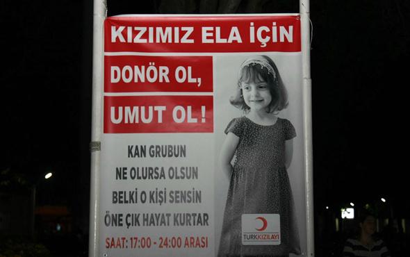 Lösemi hastası Ela için kan verdiler
