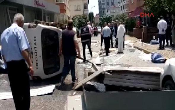 Maltepe'de iş yerinde korkutan patlama