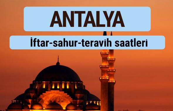 Antalya iftar ve sahur vakti ile teravih saatleri
