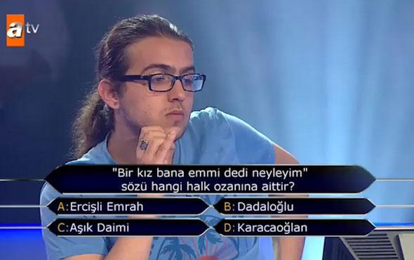 Lise öğrencisi Çağdaş 1 milyonluk soruya ulaştı!