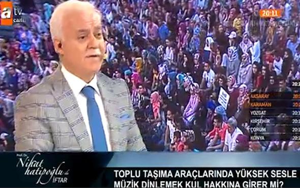 Nihat Hatipoğlu telefon sesine Kuran-i Kerim'i koyanları uyardı