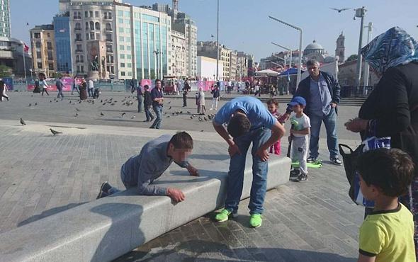 Taksim'de şok eden manzara!