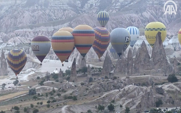 Kapadokya turizmini balonlar 'uçurdu'