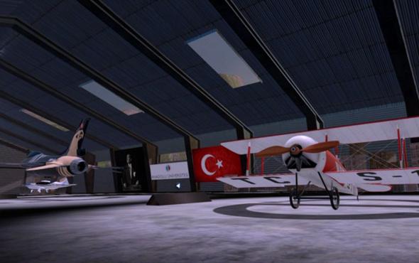 Sanal gerçeklikle uçak hangarı gezisi imkanı