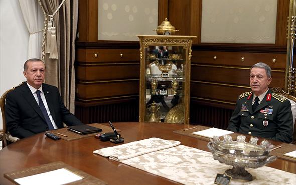 Erdoğan ile Orgeneral Akar bir araya geldi