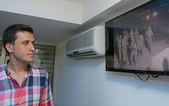Kahraman asker kendi görüntülerini ilk kez izledi