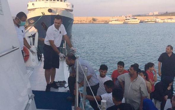 Mersin'de gemiye operasyon yakalandılar