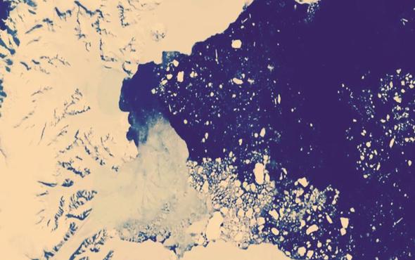 1 Trilyon tonluk buzdağının kırılan yüzü!