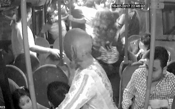 Halk otobüsünde taciz kavgası polisler zor ayırdı