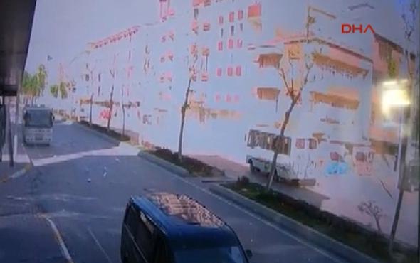 Esenyurt'taki doğalgaz patlaması güvenlik kamerasında
