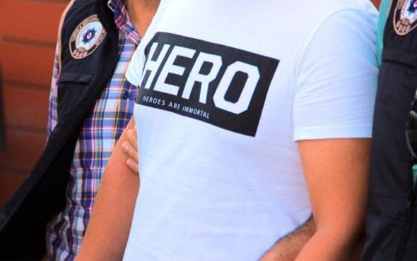 """Siirt'te """"Hero"""" tişörtüne iki gözaltı"""