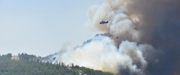 İzmir'de durdurulamayan yangın kontrol altına alındı!