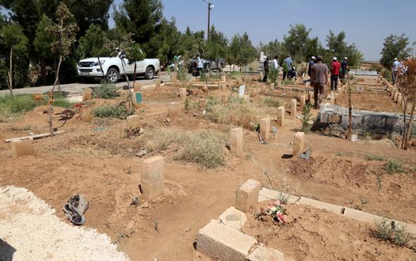 PKK mezarlığının o eski halinden eser yok şimdi