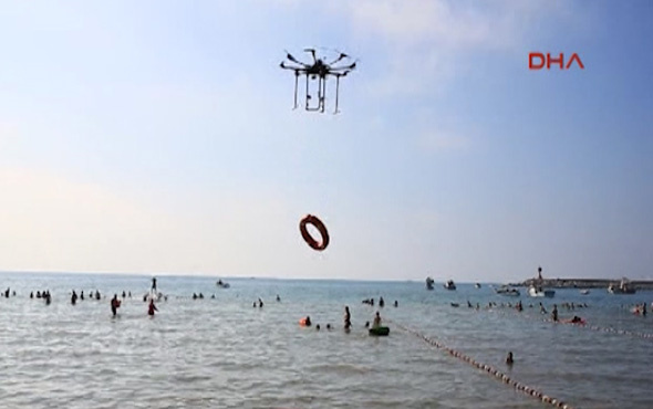 'Drone'lar can kurtarıyor