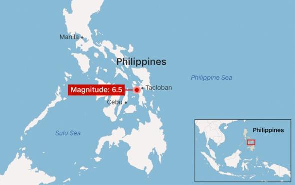 Son depremler Filipinler çok şiddetli sallandı